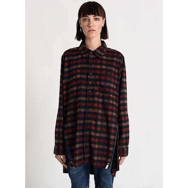 OneTeaspoon 洋裝 RUBY OVERSIZED SHIRT DRESS-棕(女)