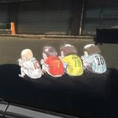 車貼 新品汽車立體透明劃痕貼車身個性卡通裝飾貼動漫車門創意貼紙