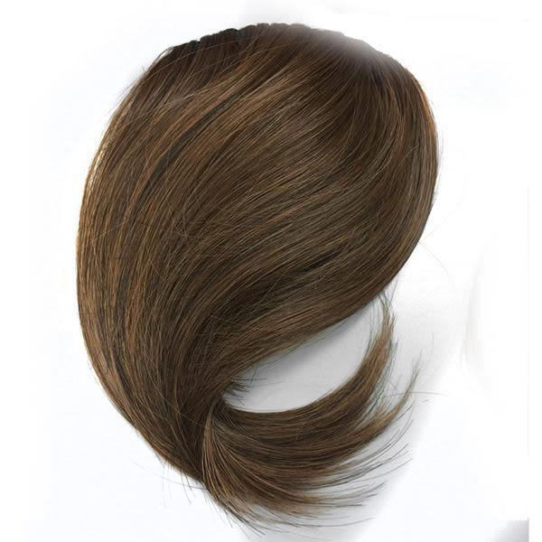 自然彎度斜劉海 快速接髮,自然假髮,復古斜瀏海 YB 魔髮樂Mofalove