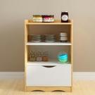 現代簡約餐邊櫃多功能儲物櫃子帶門北歐簡易廚房經濟型碗櫃茶水櫃 聖誕節全館免運