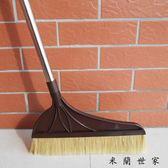 加長桿豬鬃毛掃把單個家用不銹鋼桿軟毛
