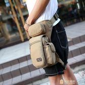 男士腰腿包 軍迷多功能騎行帆布腿包 潮男包休閒戶外腰包 戰術包一件免運