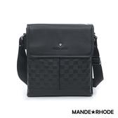 MANDE RHODE - 巴弗洛 - 真皮質感格紋三層斜背包 - X20886