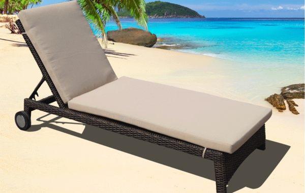 【南洋風休閒傢俱】戶外躺椅系列 - 編藤躺椅 造型躺床 戶外躺床 游泳池躺椅 664-4