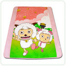 HO KANG 授權卡通品牌 雙人涼被~喜羊羊 郊遊粉