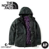 【The North Face 美國 女DryVent兩件式防水耐磨羽絨外套《黑》】3VV1/防水外套