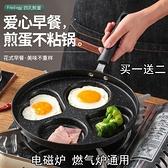 煎雞蛋專用不黏平底家用條紋牛排煎鍋早餐烙餅煎餅小漢堡煎蛋神器 ATF 韓美e站