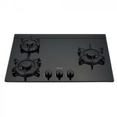 (標準安裝)林內三口LOTUS玻璃檯面爐黑色LED瓦斯爐RB-F312G(B)