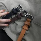 百搭基礎金屬針扣PU皮帶韓繫簡約學生純色腰帶【全館上新】