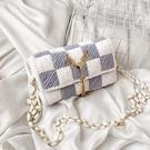 diy手工包包 送女友閨蜜手工編織包包diy材料包手織冰條線網格自制鏈條【快速出貨八折下殺】