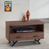 Homelike 愛爾3尺電視櫃-胡桃-免組裝