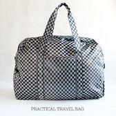 Catsbag -棋盤格紋 輕巧超大容量耐髒防水可水洗二用包可套拉桿旅行袋-107730326