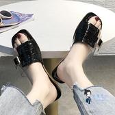 拖鞋 洋氣款拖鞋外穿可濕水2019夏季新款時尚可愛ins超火網紅涼拖潮款 3色