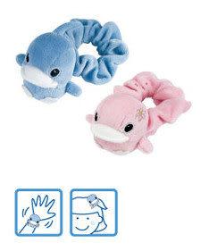 【奇買親子購物網】酷咕鴨KU.KU. 寶貝搖鈴手腕帶(藍色/粉色)