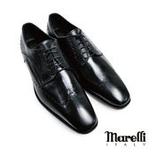 【marelli】翼紋雕花德比紳士鞋(4425-BL)