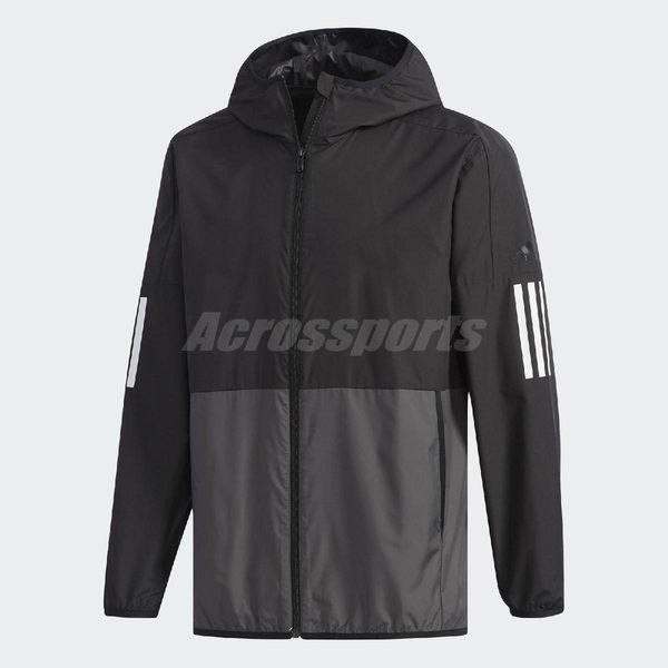 adidas 風衣外套 S2S SC Wind Jacket 黑 灰 男款 運動夾克 【PUMP306】 DV1050