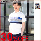 出清 拼接 海軍風 男T恤免運費 日本品牌【coen】