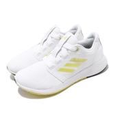 adidas 慢跑鞋 Edge Lux 3 W 白 黃 女鞋 運動鞋 【PUMP306】 EH0432