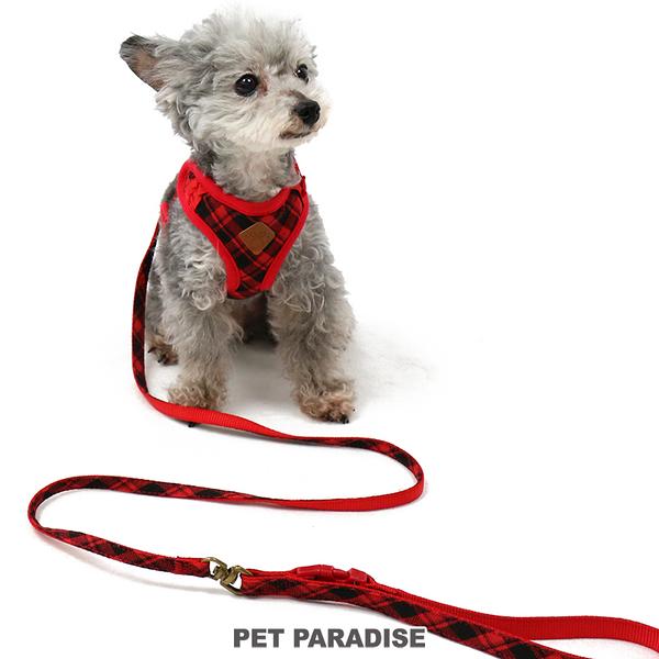 【PET PARADISE 寵物精品】Pretty Boutique 格紋一體成型胸背帶【SS】 寵物胸背帶