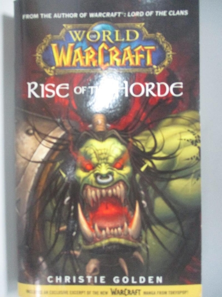 【書寶二手書T1/原文小說_AK9】Rise of the Horde_Christie Golden