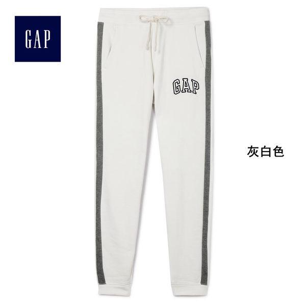 Gap女裝 Logo印花束口休閒褲 440776-灰白色