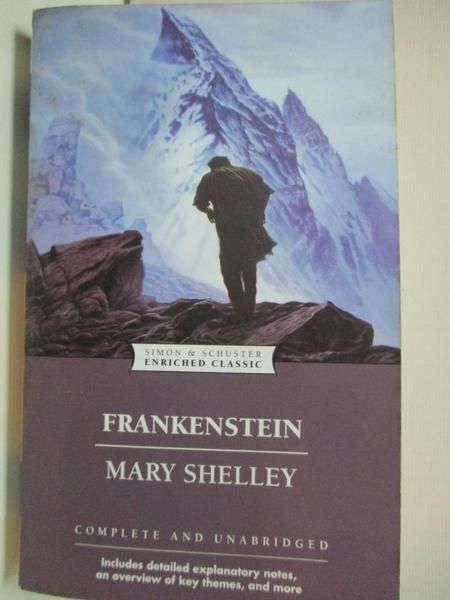 【書寶二手書T2/原文小說_GZ5】Frankenstein (Enriched Classics)_Mary Shelley