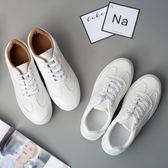 (全館一件免運)DE shop~(NN-9955)百搭小白鞋女繫帶韓版透氣女鞋運動休閒鞋平底學生板鞋