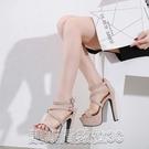 高跟涼鞋大碼羅馬涼鞋女型號0083-TS 34到40碼 【快速出貨】