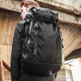 雙肩包 歐美潮牌雙肩包男士韓版休閒旅行背包戶外輕便大容量登山包 智慧e家