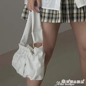 腋下包 云朵包包女2020春夏新款褶皺包OL通勤百搭腋下包軟面側背包手提包 愛麗絲
