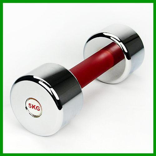 台灣製5KG電鍍啞鈴(約11磅/健身啞鈴/重量訓練/健身器材/練胸肌手臂)