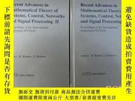 二手書博民逛書店Recent罕見Advances in Mathematical Theory of Systems Contro