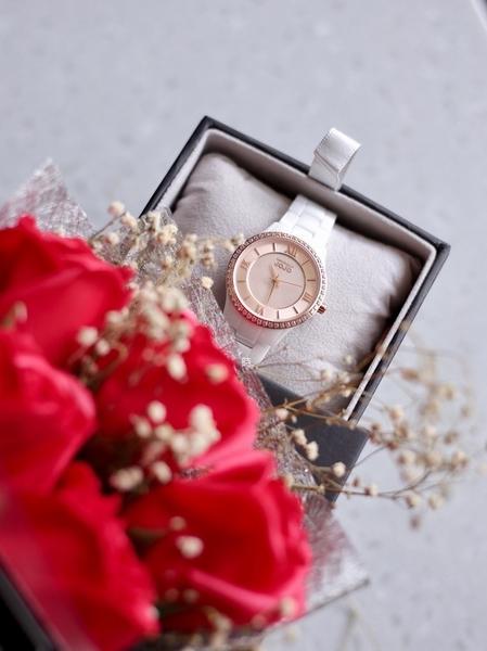 NATURALLY JOJO 經典晶鑽 陶瓷錶 JO96929-13R
