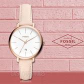 FOSSIL手錶專賣店 ES4369 文青指針女錶 皮革錶帶 白色錶面 日期顯示 全新品 保固