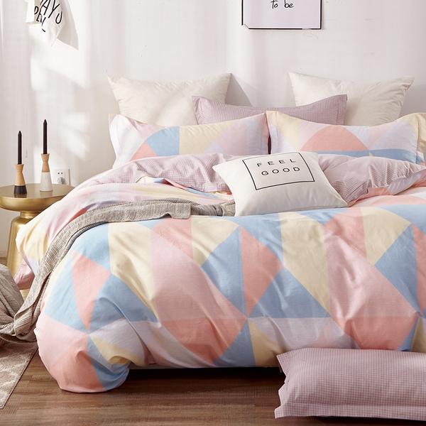 床包被套組 / 雙人【萬花筒】含兩件枕套  100%精梳純棉  戀家小舖台灣製