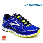 【BROOKS】男款支撐型慢跑鞋 Adrenaline GTS17系列 - 寶藍黃(412E453) 全方位跑步概念館