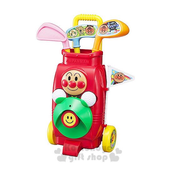 〔小禮堂嬰幼館〕麵包超人 高爾夫球玩具組《紅.3球桿.2顆球》健康運動性質玩具 4971404-31307