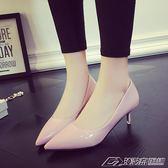 尖頭高跟鞋細跟女鞋低跟中跟伴娘鞋婚鞋單鞋女 潮流前線
