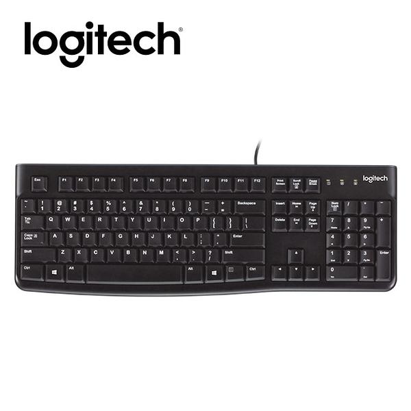EC數位 logitech 羅技 K120 USB 有線鍵盤 電腦 經典鍵盤 鍵盤 線上遊戲 文書辦公 無聲鍵盤