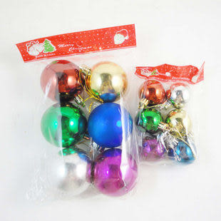 聖誕節用品裝飾  4cm/6cm光球四包24個價
