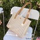 托特包 大容量包包女夏2021新款夏季高級感手提側背包大包百搭通勤托特包 coco