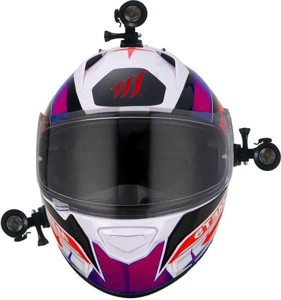 sj2000 sjcam mio m550 Whistler m95 m10獵豹摩托車行車紀錄器車架子黏貼安全帽固定支架