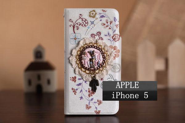 5S免運+任二件$900 iphone 5/5S 免運 蘋果iphone5閃亮2代後扣式小紅帽花系列保護皮套 手機殼 外殼