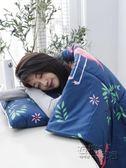 抱枕被子兩用辦公室午休靠墊被沙發靠枕汽車用摺疊空調被床頭靠背 HM 衣櫥秘密