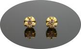 gold 黃金 耳環 金飾 保證卡 重量0.36錢 [ ge 060 ]