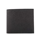 【PRADA】壓印logo二折短夾(黑色)2MO513 053 F0002