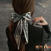 髮飾絲巾發帶韓國網紅氣質頭繩飄帶超仙綁扎頭發【倪醬小鋪】
