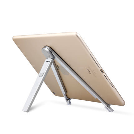 埃普平板支架ipadAir2創意懶人支架桌面支架銀箭魚手機支架折疊