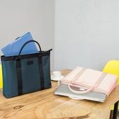 手提文件袋A4拉鍊袋防水公文包男女士商務辦公會議袋資料袋電腦包