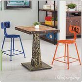 【水晶晶家具/傢俱首選】堅信巴黎61*61cm四方鐵腳木面餐桌~不含餐椅 JM8238-6
